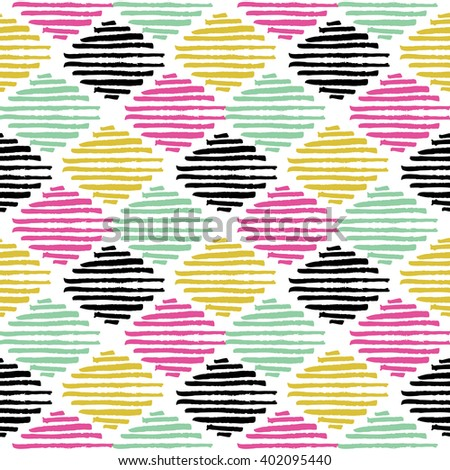 Grunge tribal brush stroke seamless pattern. Ethnic texture. Summer design - stock vector