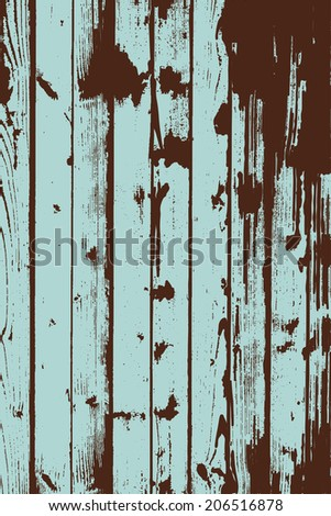 Grunge two colors wooden wall pattern. Vector illustration. - stock vector