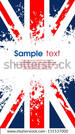 Grunge UK flag - stock vector