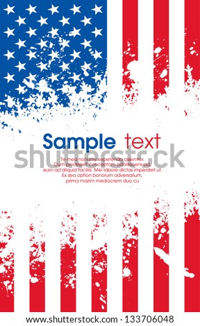 Grunge USA flag - stock vector