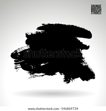 Grunge vector abstract hand - painted brush stroke.