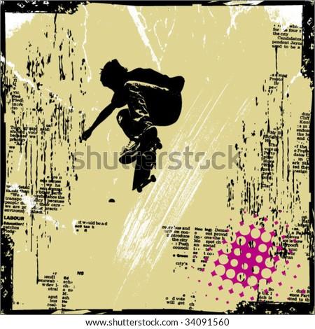 grunge vector background illustration - stock vector