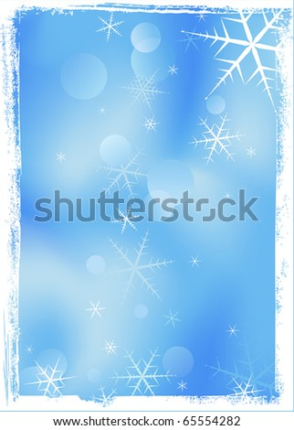 Grunge vector frame in Christmas style - stock vector