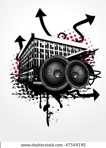 grunge vector music art background