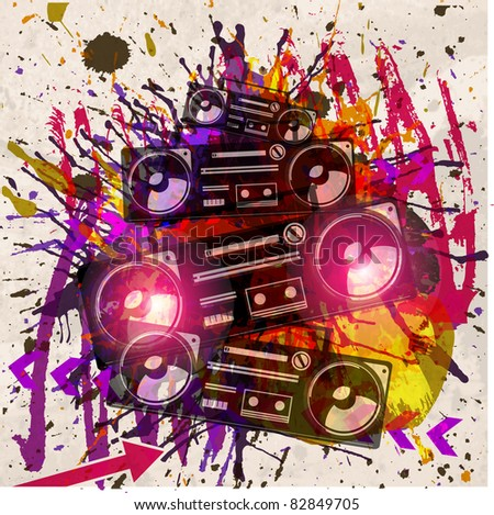 grunge vector musical design background