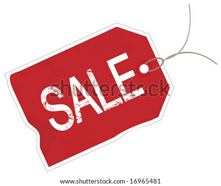 Grunge Vector Sale Tag