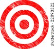 Grunge Vector Target - stock photo