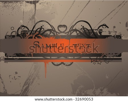 Grunge vector text frame