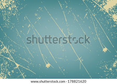 Grunge vector texture on turquoise - stock vector