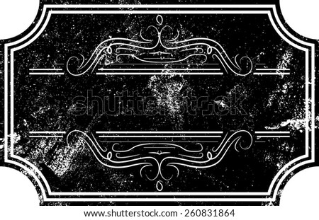 Grunge Vector Vintage Insignia, Banner, Logo or Label with High Detailed Distress Texture  - stock vector