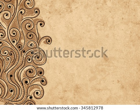 Grunge wave background for your design. Vector illustration - stock vector