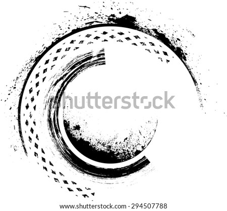 Grunge Wave Logo Element. Surfing Icon . Brush Stroke . Vector Illustration.