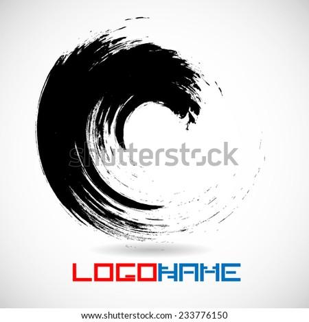 Grunge Wave Logo Element. Vector Illustration.  - stock vector