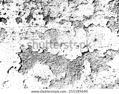 Grunge white and black wall background. Vector illustration.  - stock vector