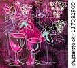 Grunge wine background - stock vector