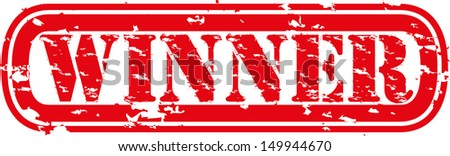 Grunge winner rubber stamp, vector illustration