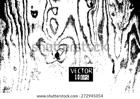 Grunge wooden board trace. Vector - stock vector