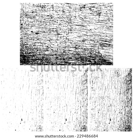 Grunge wooden textures set, Vector background EPS 10