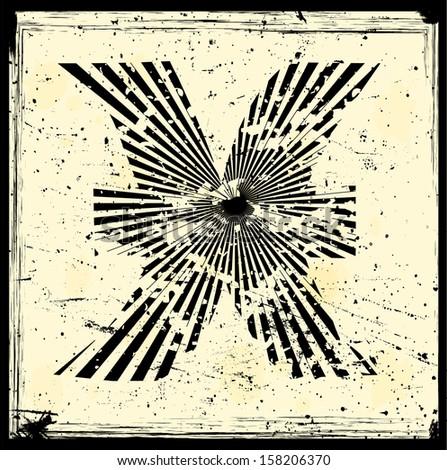 Grunge zodiac sign - stock vector