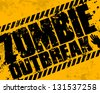 Grunge zombie outbreak - stock photo