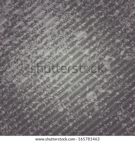 Grungy abstract background of gray with diagonal stripes.  Vector EPS 10 illustration.