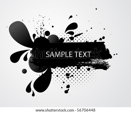 grungy banner with sample text - stock vector