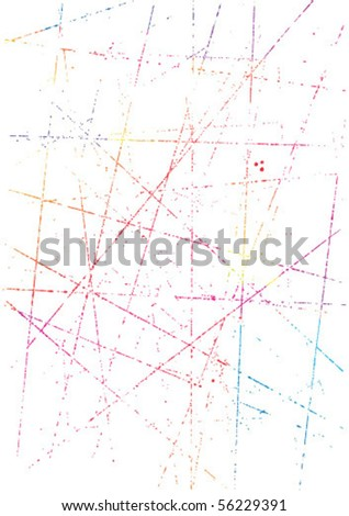grungy colored design elements - stock vector