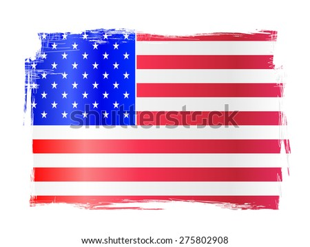 Grungy distressed stars and stripes flag of the USA