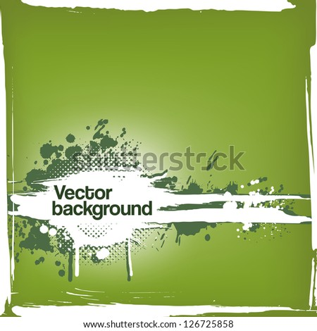 grungy ink blot background - stock vector