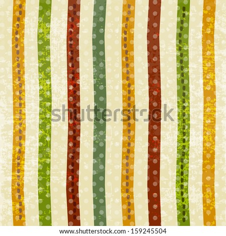 Grungy retro background with colorful stripes.
