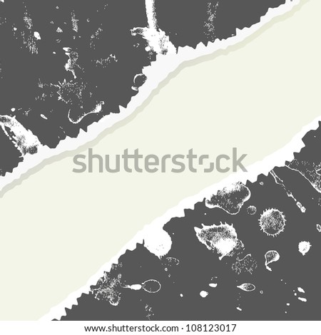 Grungy ripped paper. vector illustration