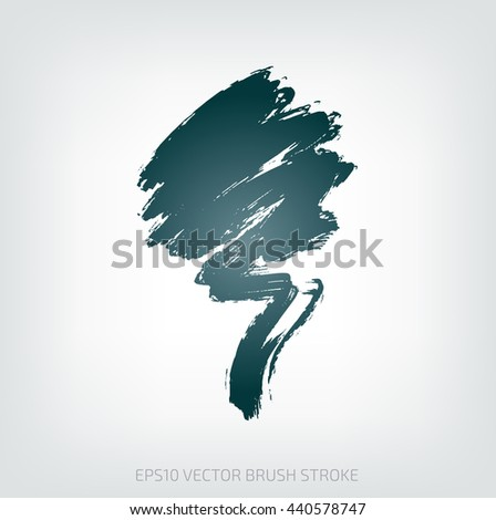 Grungy vector abstract hand-painted brush stroke
