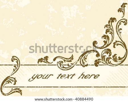 Grungy vintage sepia banner, horizontal (vector); a JPG version is also available - stock vector