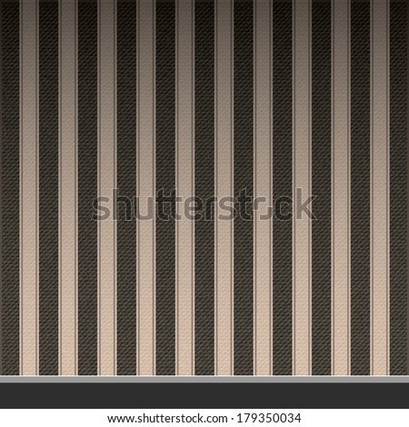 grungy wall and old wooden floor - stock vector