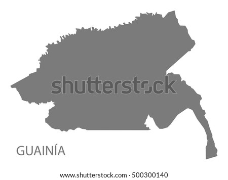 Guainia Colombia Map in grey