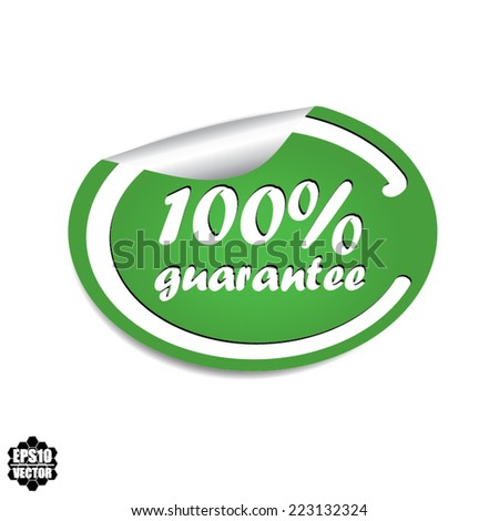 Guarantee badge and banner in green stamp, sticker, tag, label, sign, icon.-eps10 vector - stock vector