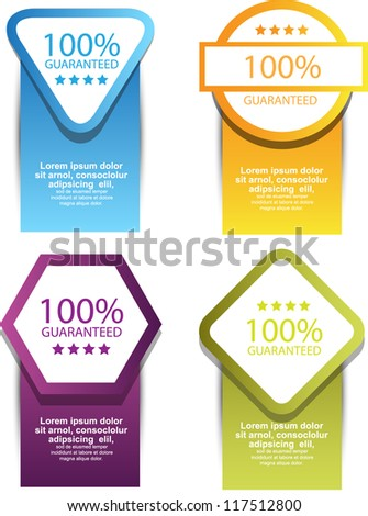 guarantee banners/labels - stock vector