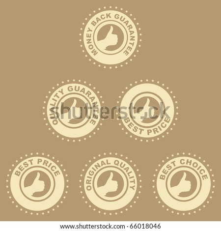 Guarantee stamp collection. - stock vector