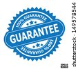 Guarantee stamp, sticker, tag, label, sign, icon.-eps10 vector - stock
