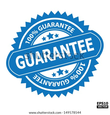 Guarantee stamp, sticker, tag, label, sign, icon.-eps10 vector - stock vector