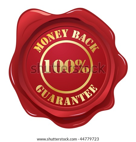 Guarantee wax seal - stock vector