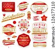 Guaranteed and quality -  vector signs, emblems and labels - stock