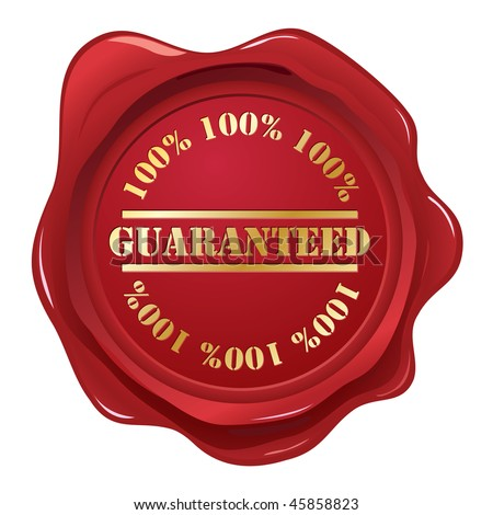 Guaranteed wax seal - stock vector