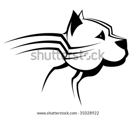 Guard dog as a symbol or emblem - abstract emblem. Jpeg version also available
