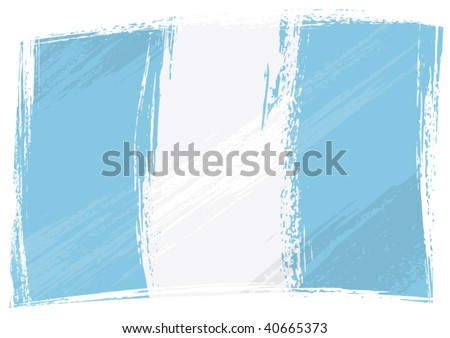 Guatemala national flag created in grunge style - stock vector