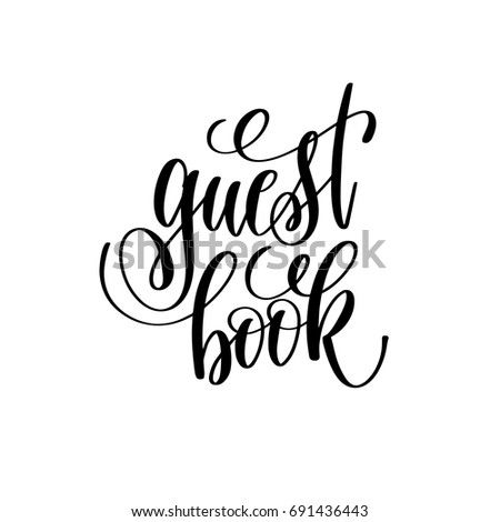 Guest Book Hand Lettering Quote Wedding Stock Vector 691436443 ...