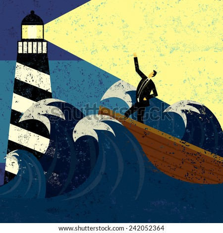 Guidance in Stormy Seas - stock vector