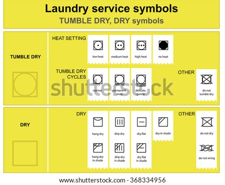 Guide Laundry Service Symbols Laundry Service Stock Vector 368334956
