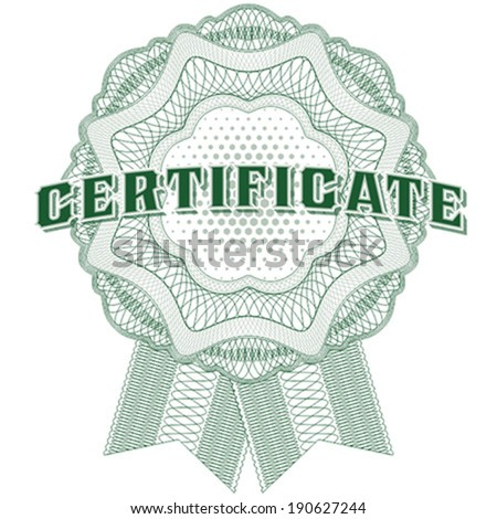 Guilloche certificate ribbon award. Ideal for certificate, diploma, voucher, currency and money design, banknote. / Stock vector / CMYK color / All lines and color are easy editable. - stock vector