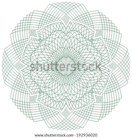 Guilloche elements for certificate, diploma, voucher, currency and money design. / Stock vector / CMYK color / All lines and color are easy editable. - stock vector